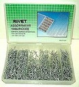 1000 Pcs Rivets Assortment