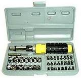 41 Pcs Screwdriver Bits & Socket Set